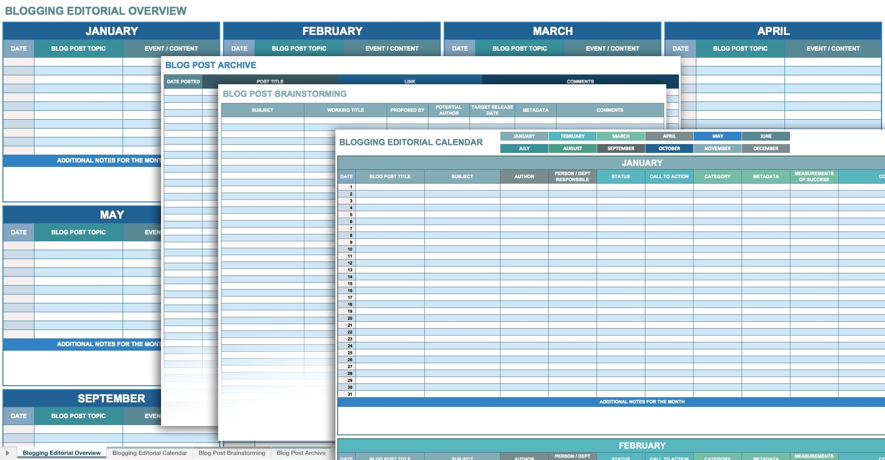 12 Free Social Media Templates - Smartsheet  Social Content Calendar Template Monthly