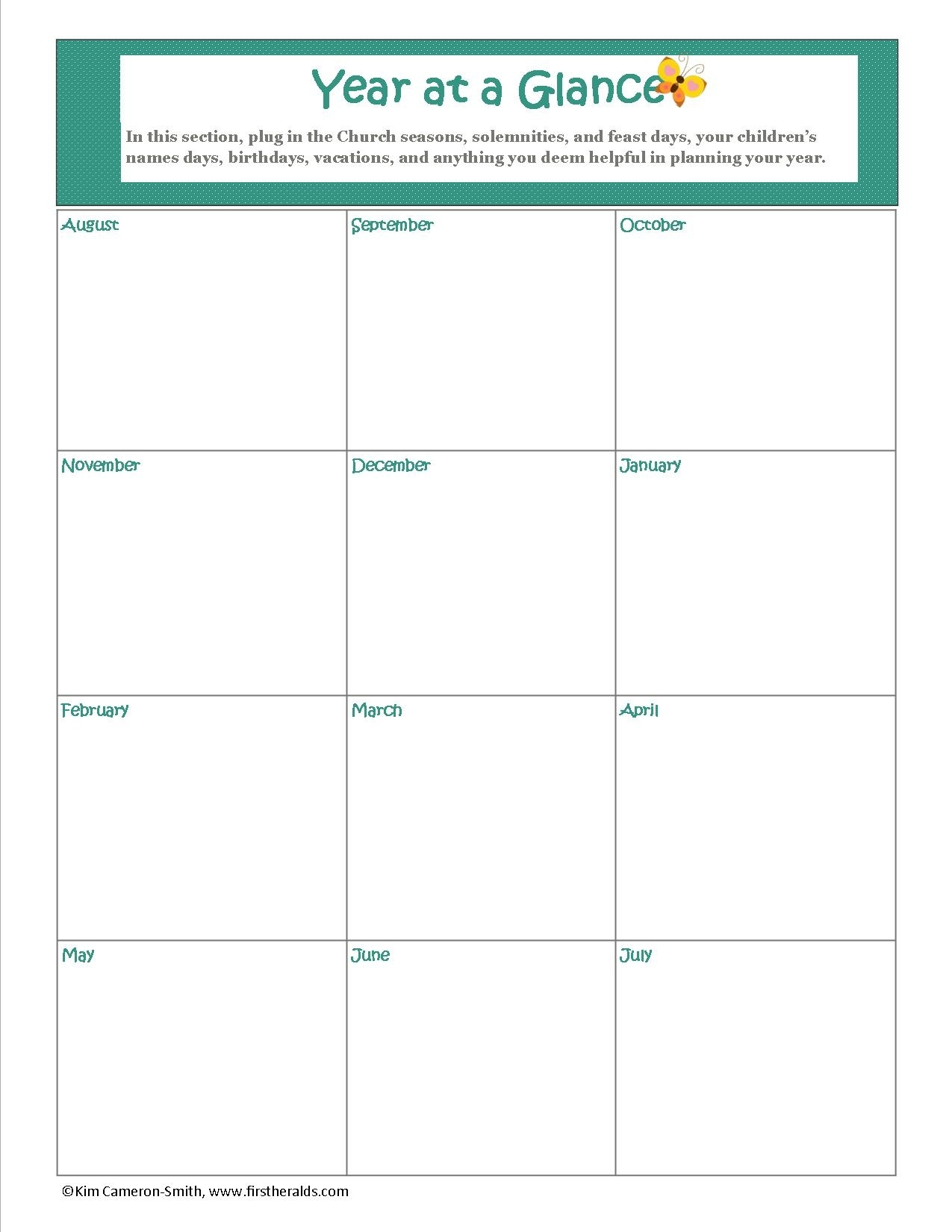 16 Images Of Photo Calendar Template 2014 Year At A Glance | Netpei  Year At A Glance Printable Template