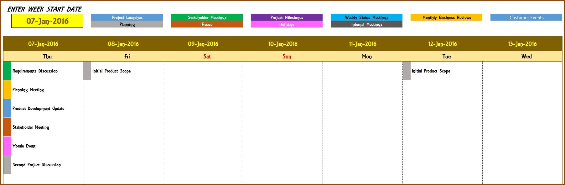 2016 Weekly Calendar - Event Calendar Maker Excel Template | Event  Template For An Event Calendar