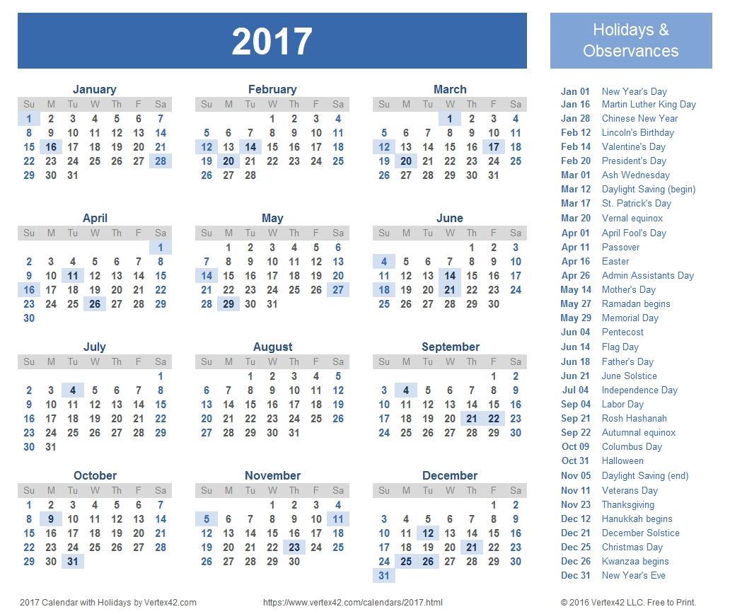 2017 Calendar Templates And Images  Printable 2014 Calendar With Canadian Holidays