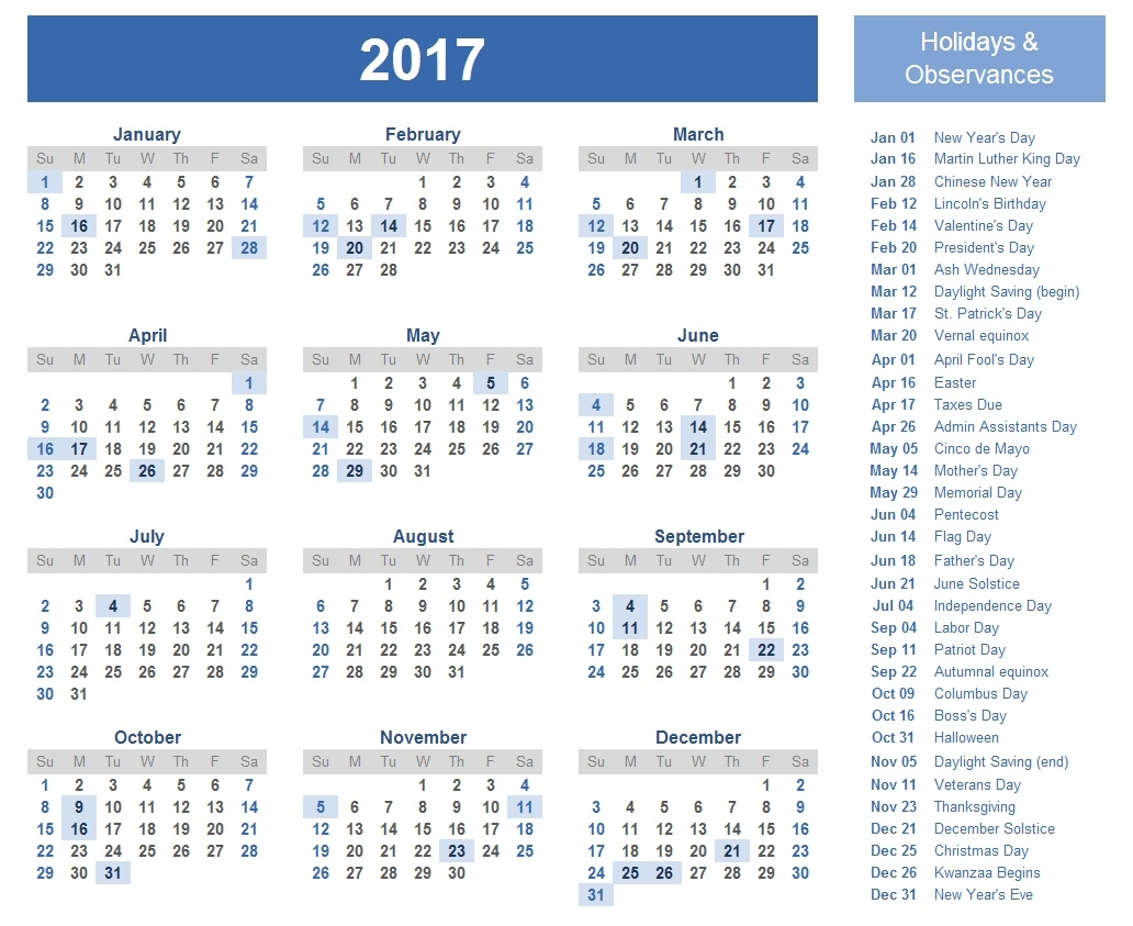 2017 Holiday Calendar List | Calendar Template 2018  List Ofhoidays In Sri Lanka