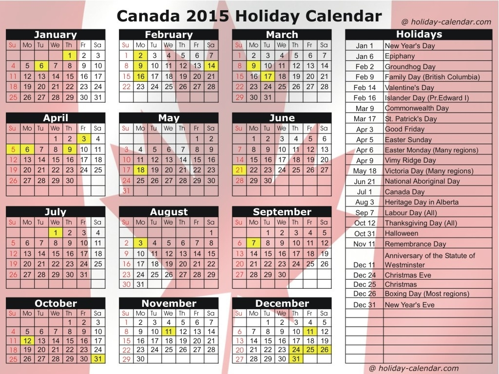 2017 September | Printable Yearly Calendar  Printable 2014 Calendar With Canadian Holidays
