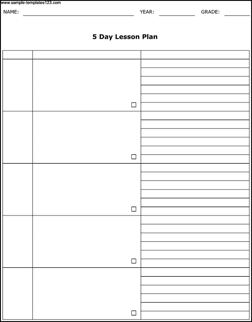 27 Images Of 5 Day Weekly Planner Template Leseriail Com Exceptional  Free Blank 5 Day Calendar