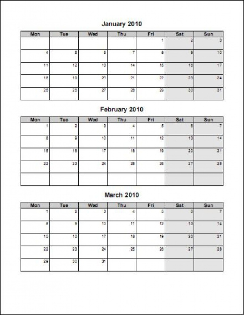 3 Month Calendars - Yeniscale.co  Free Three Month Printable Calendar Pages