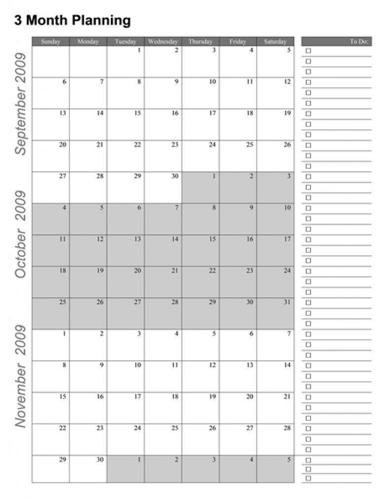 3 Month Printable Calendar 2015 Free | 2018 Calendar Template Design  Free 3 Month Calendar Templates
