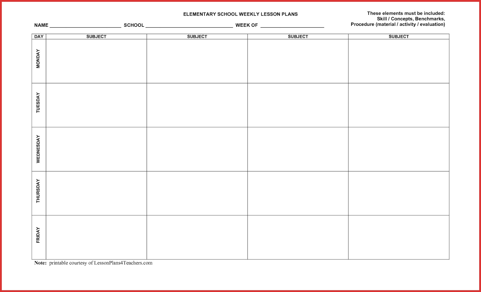 5 Day Blank Calendar Online Templates Printable Stunning Template  Blank Calendar Template 5 Day