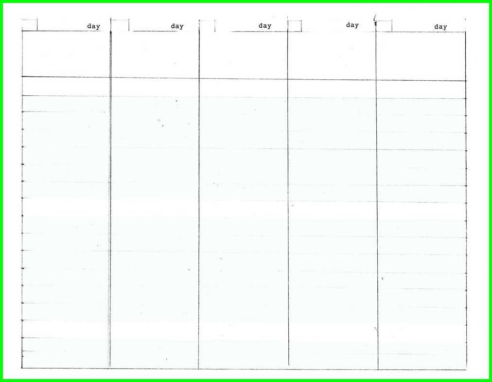 5 Day Week Printable Calendars | Calendar 2018 Printable  Blank Calendar Template 5 Day