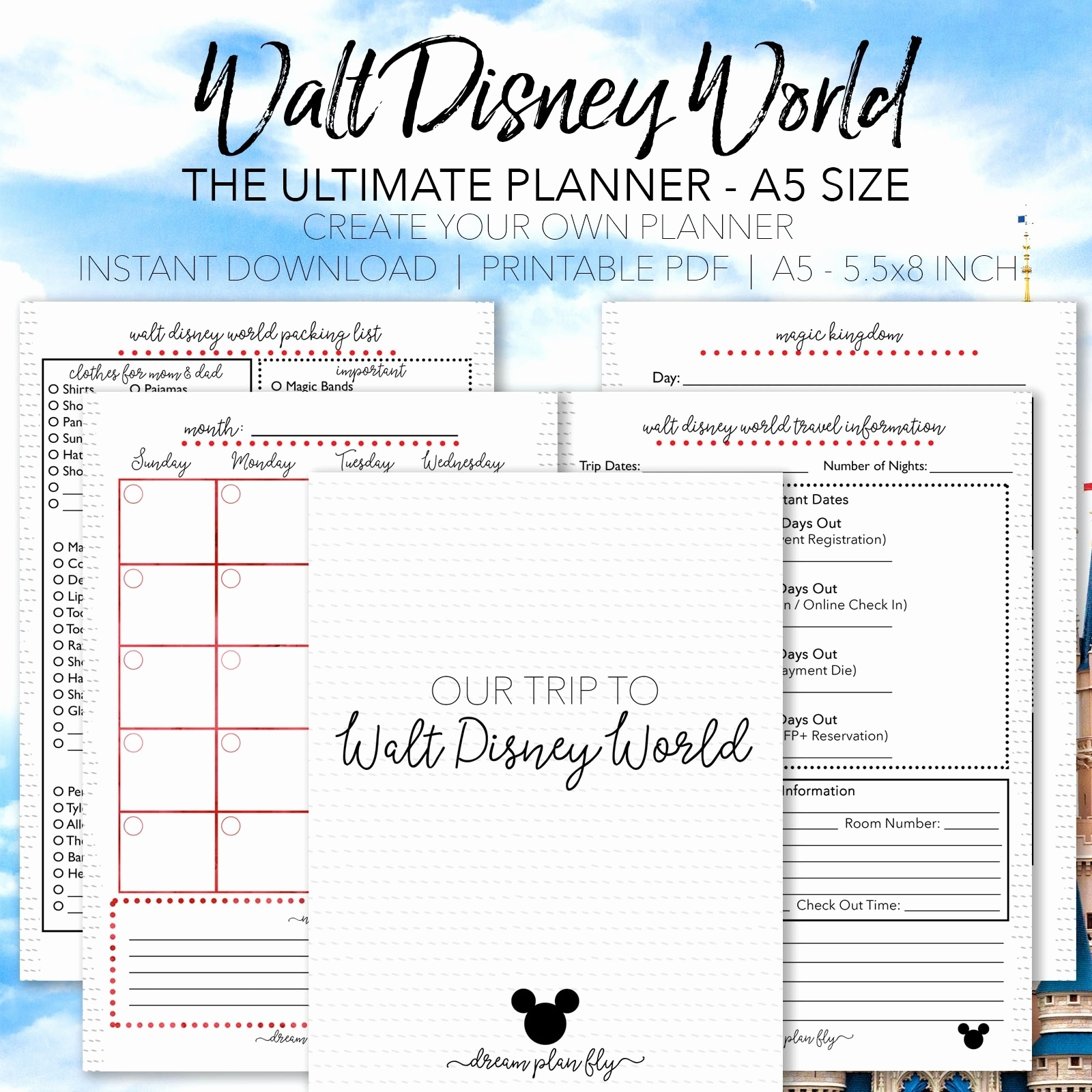 50 Awesome Disney Planning Binder Printables - Documents Ideas  Disney World Printable Planning Sheets