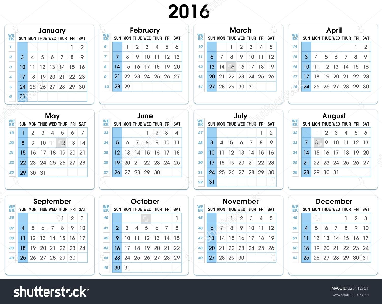 52 Week Numbered Calendar 2016 Template 2018 Endearing Enchanting  Network Rail Calendar Week Numbers