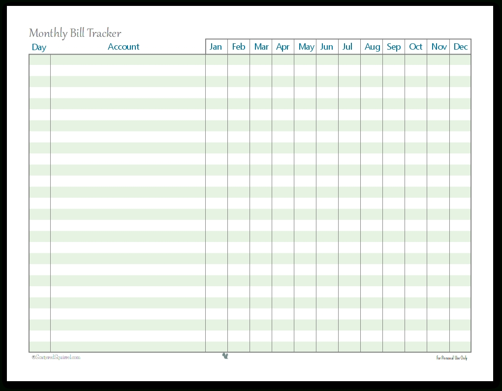 A Few More Finance Printables To Help You Stay On Track - Scattered  Free Printable Monthly Bill Tracker
