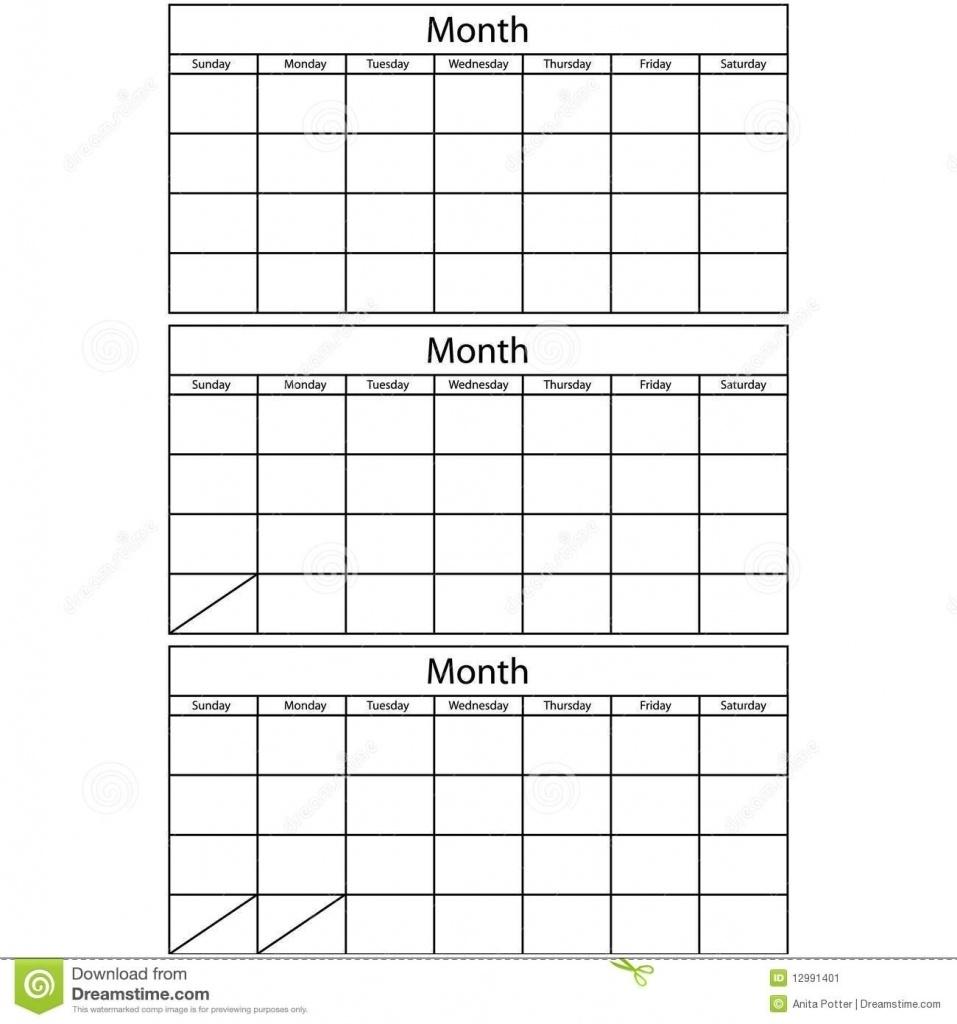 Blank 3 Month Calendar Template 2017 Printable Unbelievable  Blank 3 Month Printable Calendar
