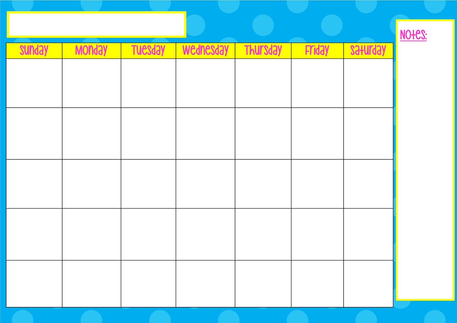 Blank Monday Through Friday Calendar | Calendar 2018 Printable  Monday Through Friday Blank Calendar Template