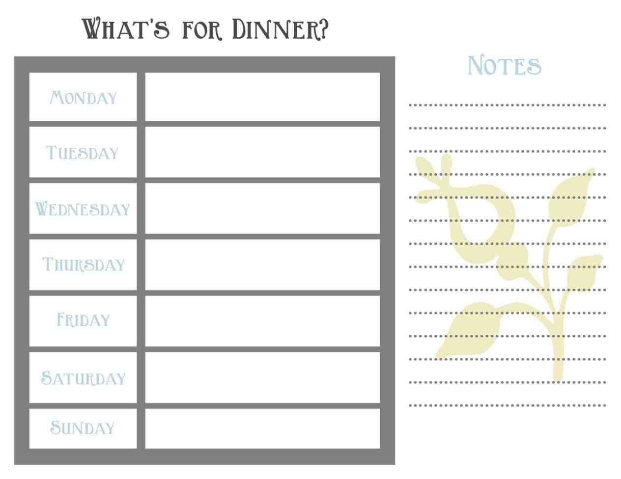 Blank Weekly Planner - Shefftunes.tk  7 Day Weekly Planner Template Printable