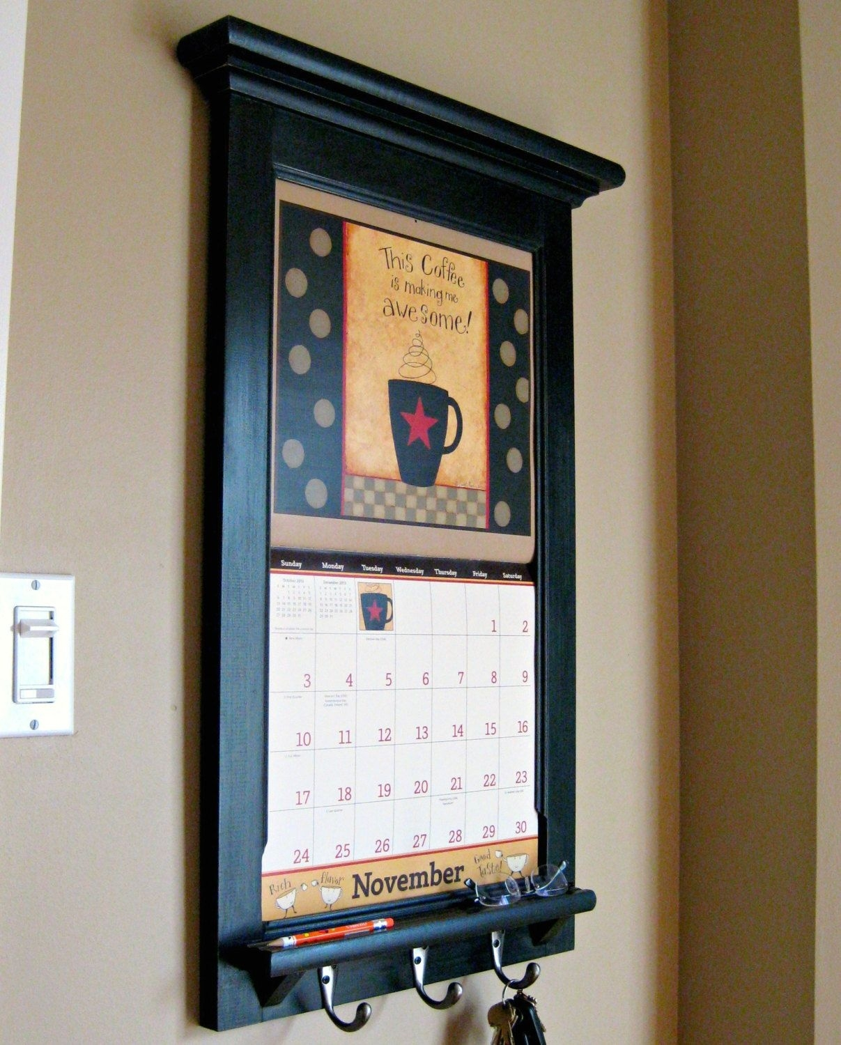Calendar Frame Organizer Get Ready For Your 2013 Calendar - Storage  Wall Calendar Frames And Holders