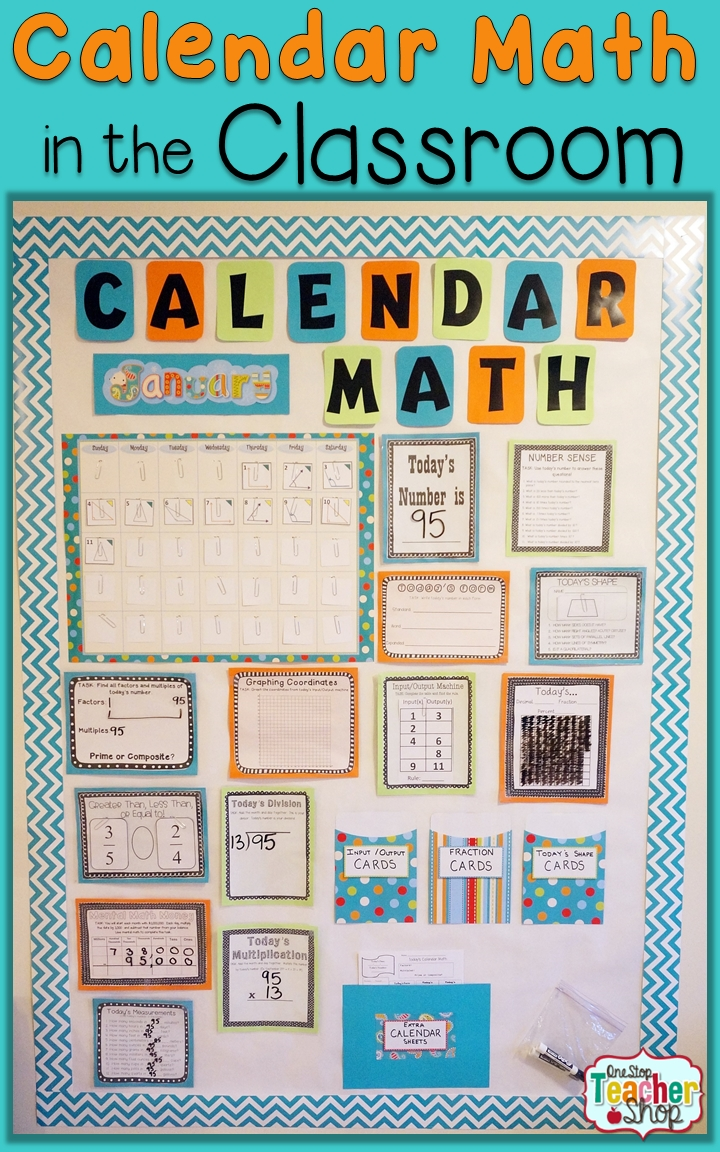 Calendar Math In The Classroom | Math, Students And Learning  Fourth Grade Everyday Math Calendar Wall