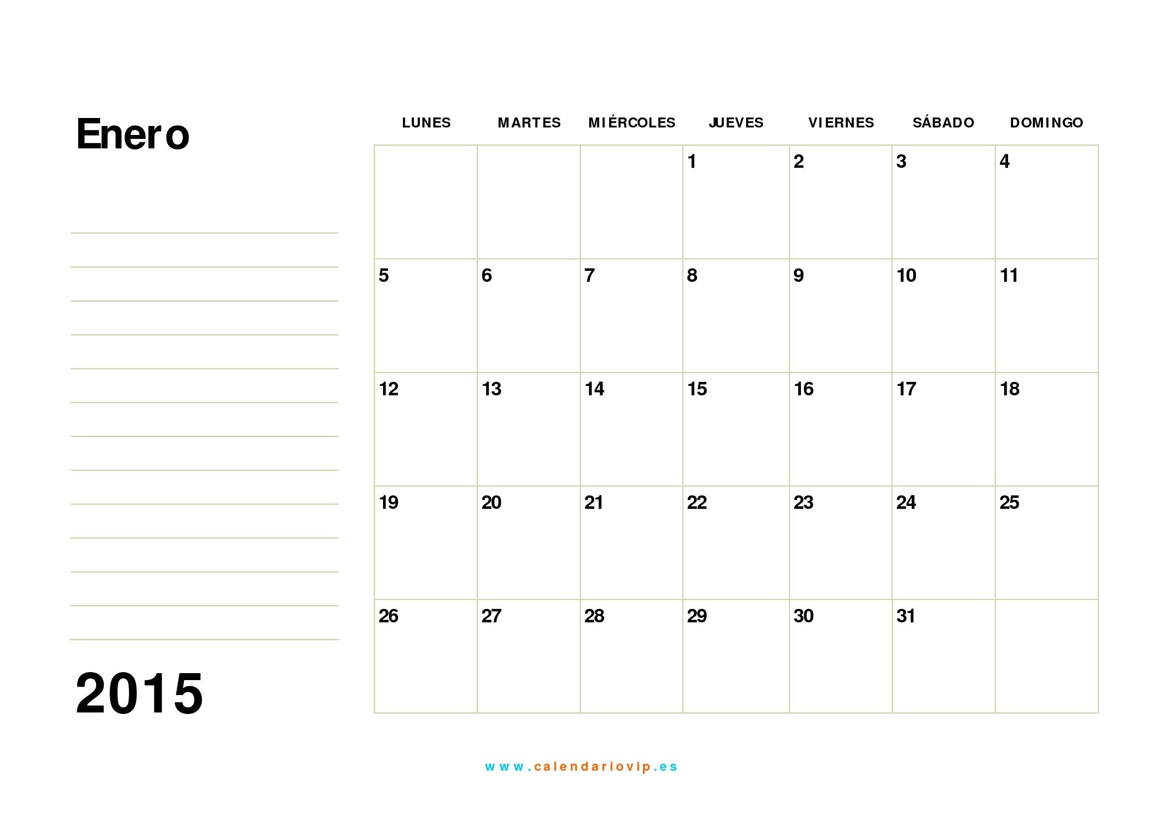 Calendario 2015 Para Imprimir Gratis  Calendario 2015 Para Imprimir Pdf