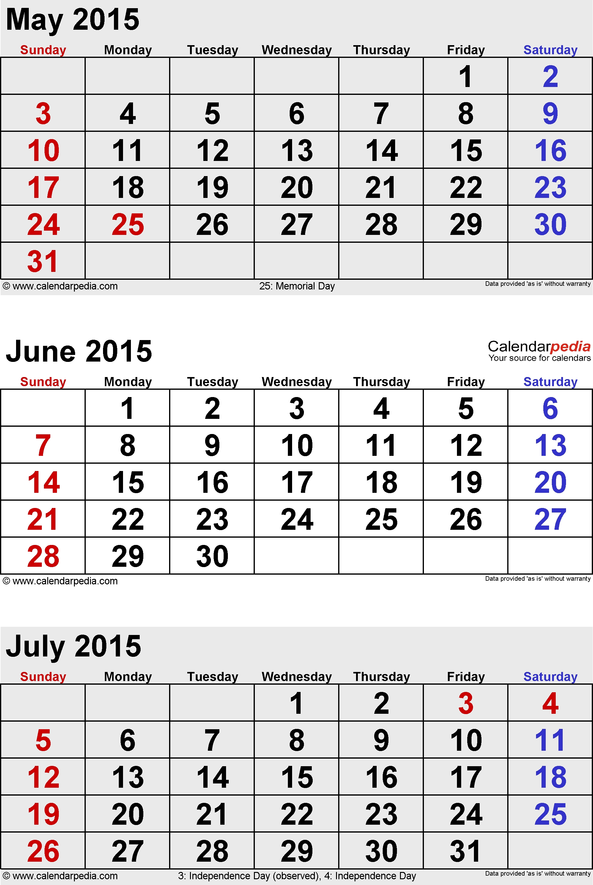 Calendars For June And July 2015 - Yeniscale.co  June And July Calendar Month