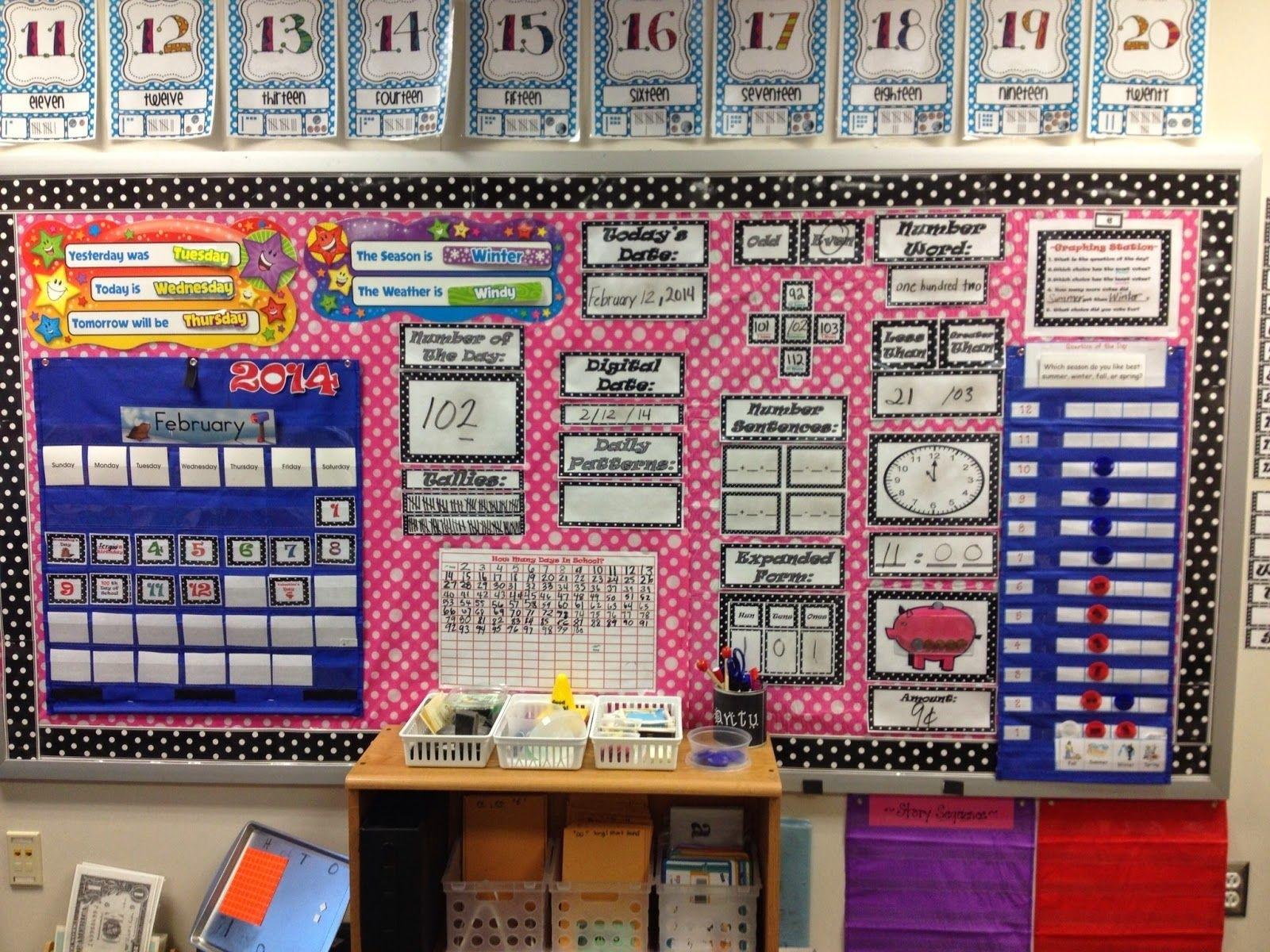 Check Out Her Math Focus Wall On Livelaughteachfirstgrade  Fourth Grade Everyday Math Calendar Wall