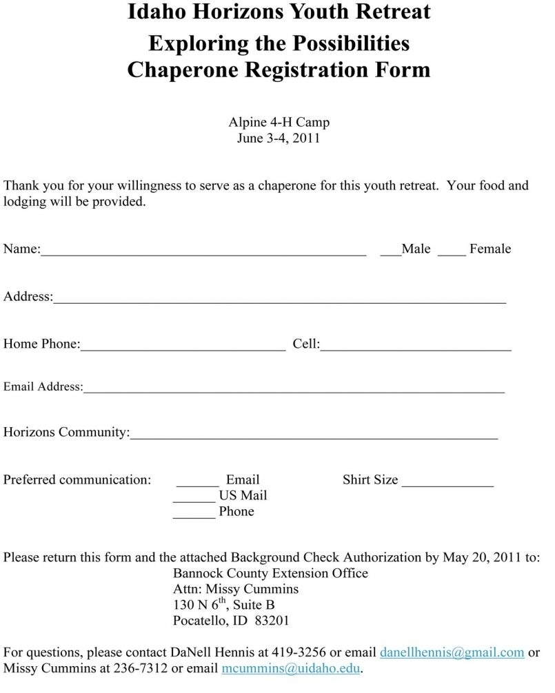 Class Registration Form Template Free - Yeniscale.co  Free Download Blank Summer Camp Application