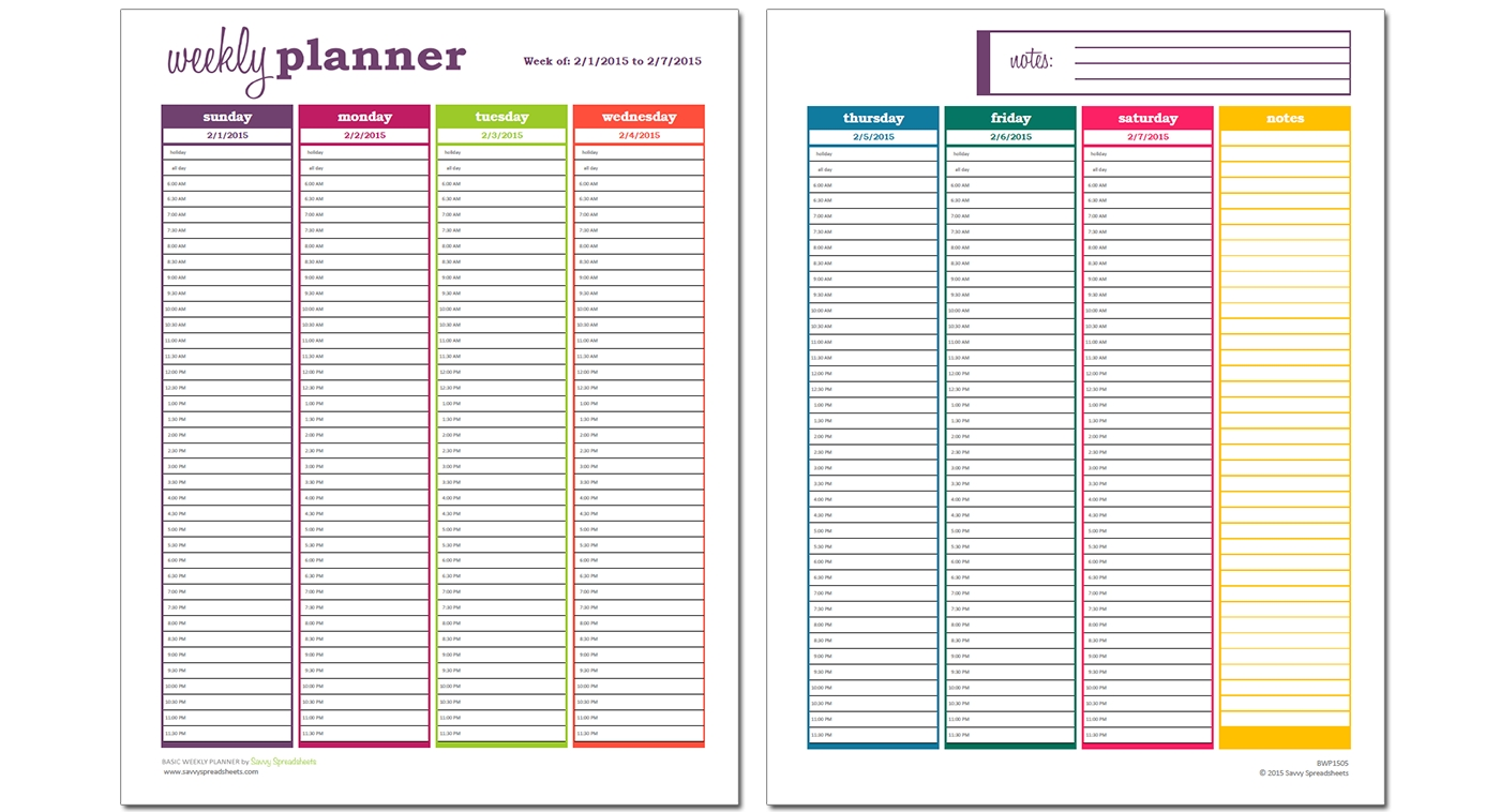 Daily Planner With Time Slots - Yeniscale.co  Online Daily Time Slot Planner
