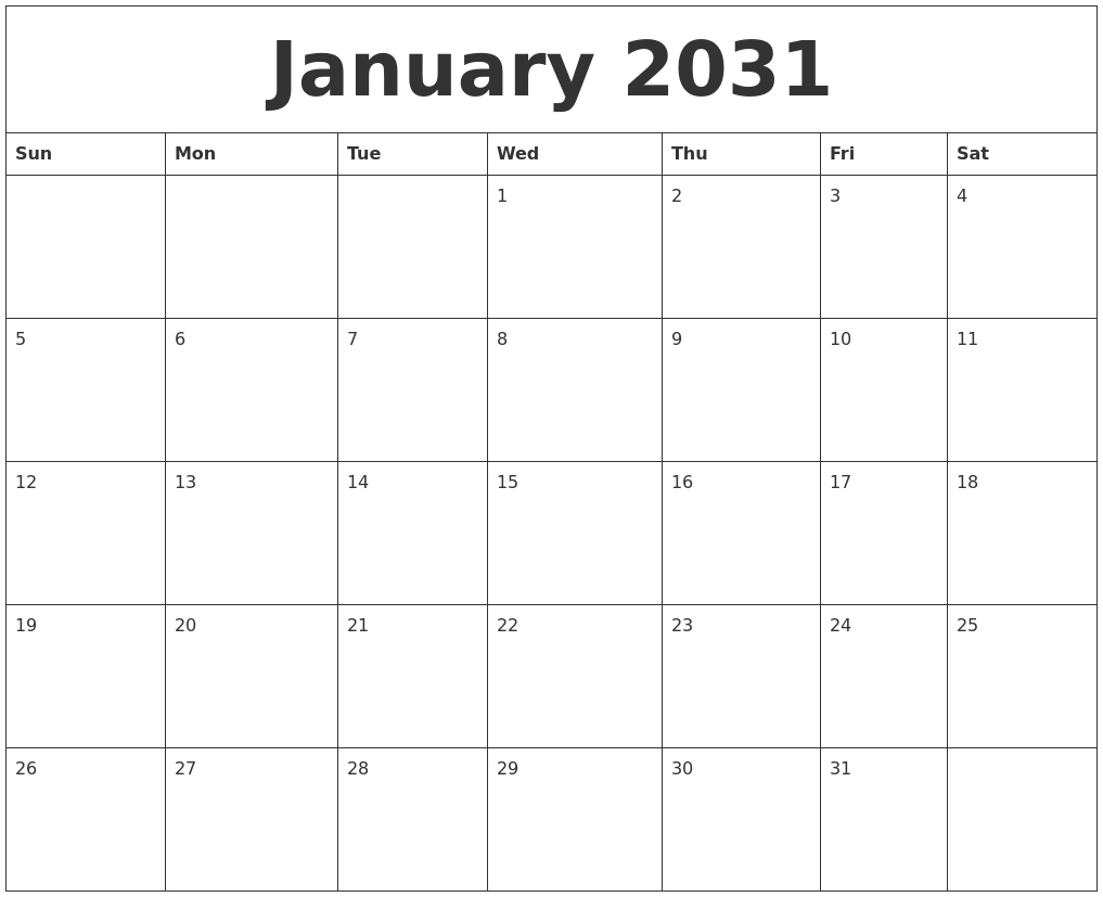 December 2030 Blank Monthly Calendar Pdf | Calendar | Pinterest  Fill In Monthly Calendar Printable