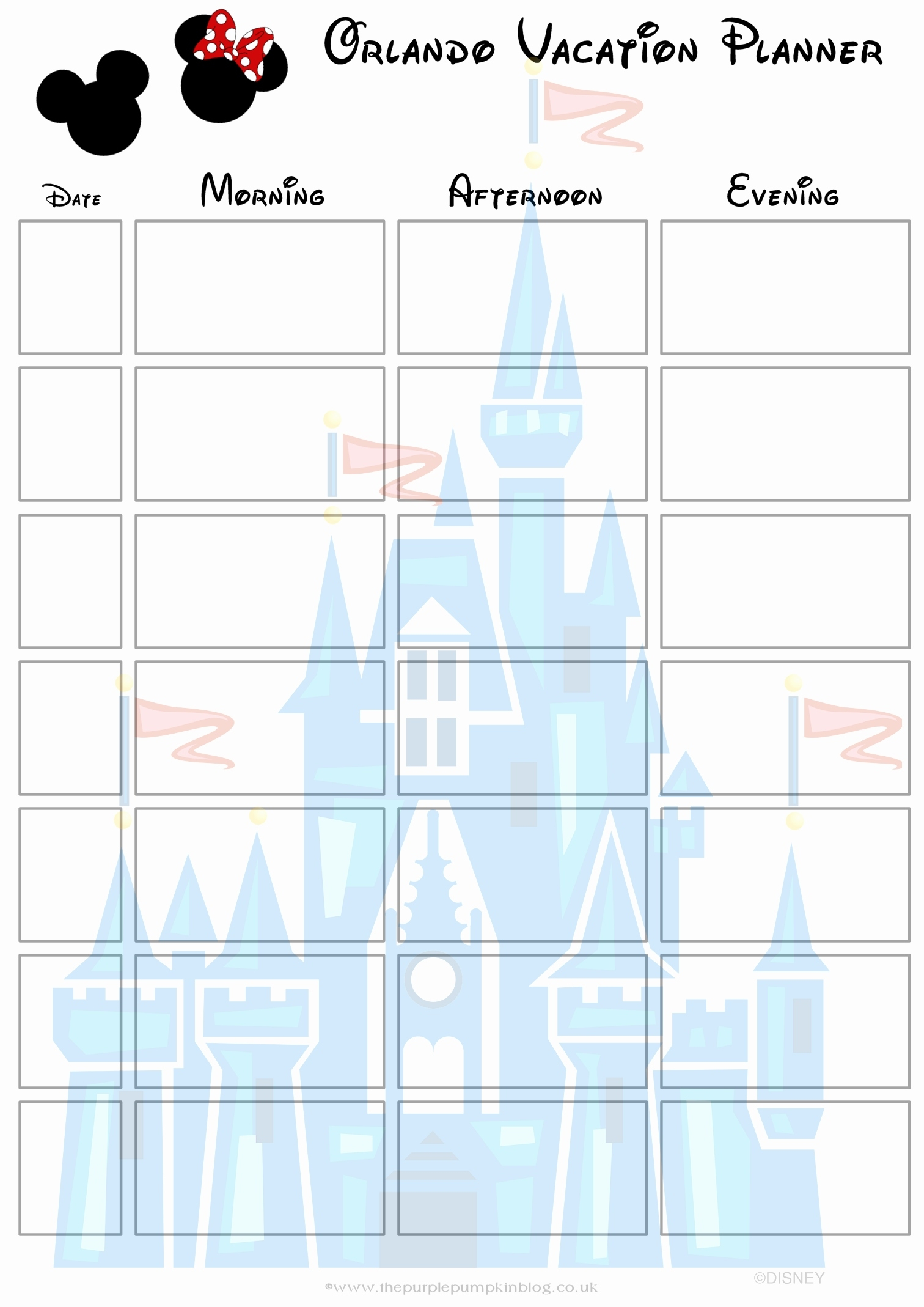 Disney Planning Binder Printables Awesome Orlando Walt Disney World  Disney World Printable Planning Sheets