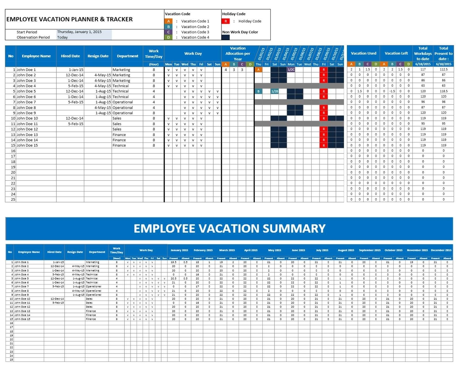 Employee Vacation Planning Calendar - Yeniscale.co  Downloadable Employee Vacation Calendar 2015