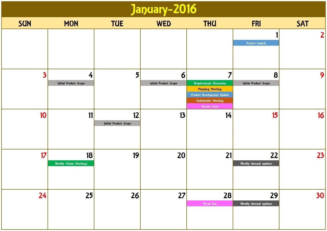 Event Calendar Excel Template Calendar Monthly Printable Excel  Template For An Event Calendar