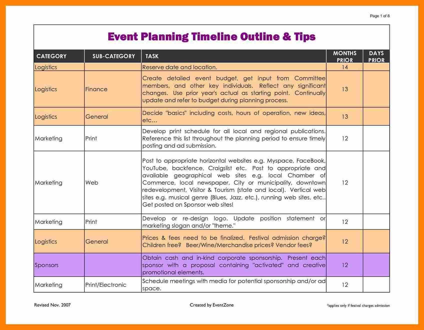 Event Planning Schedule Timeline Template Excel 13 Current Therefore  How To Detailed Event Scheduled