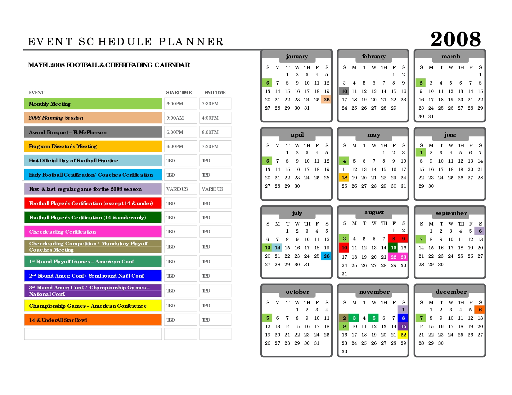 Events Schedule Template - Shefftunes.tk  Run Of Event Event Plan Template In Excel