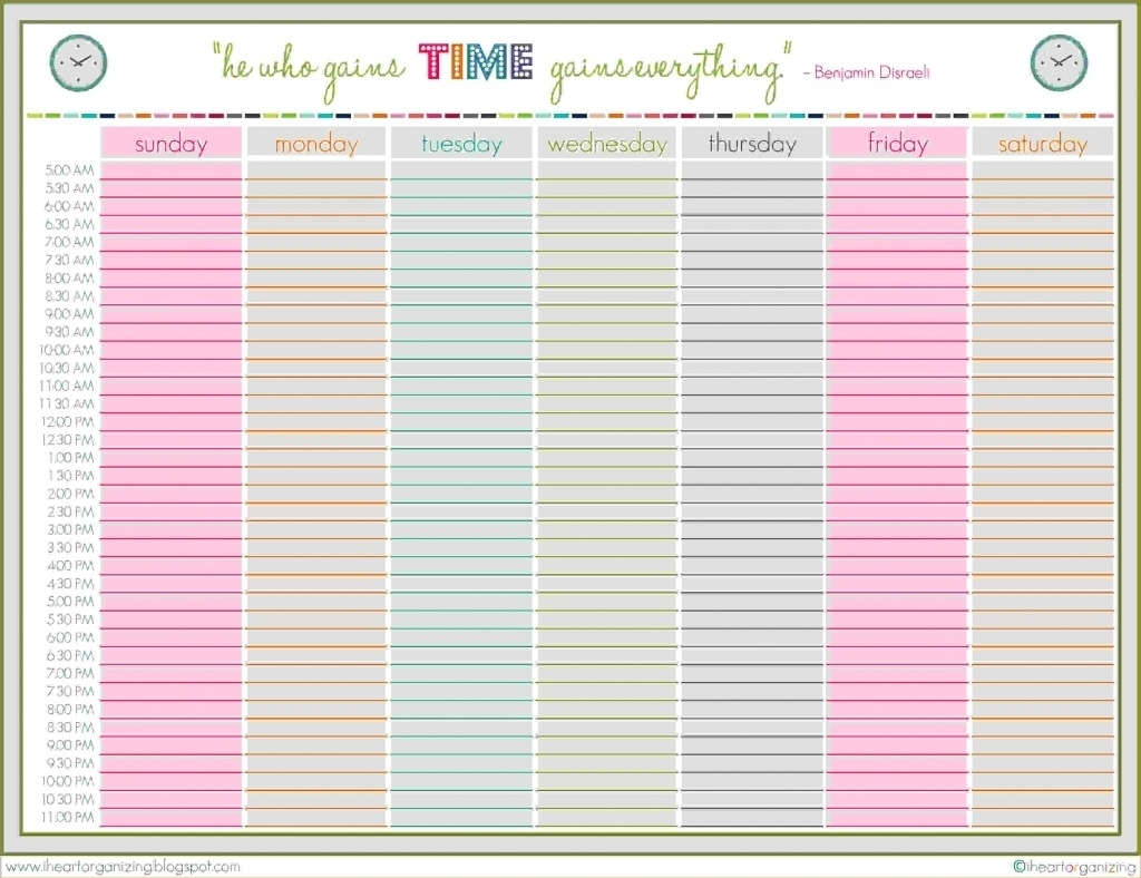 Finding Weekly Planner Starting At 5Am On The Web – Planner Template  Weekly Planner Printable 5 Am Start
