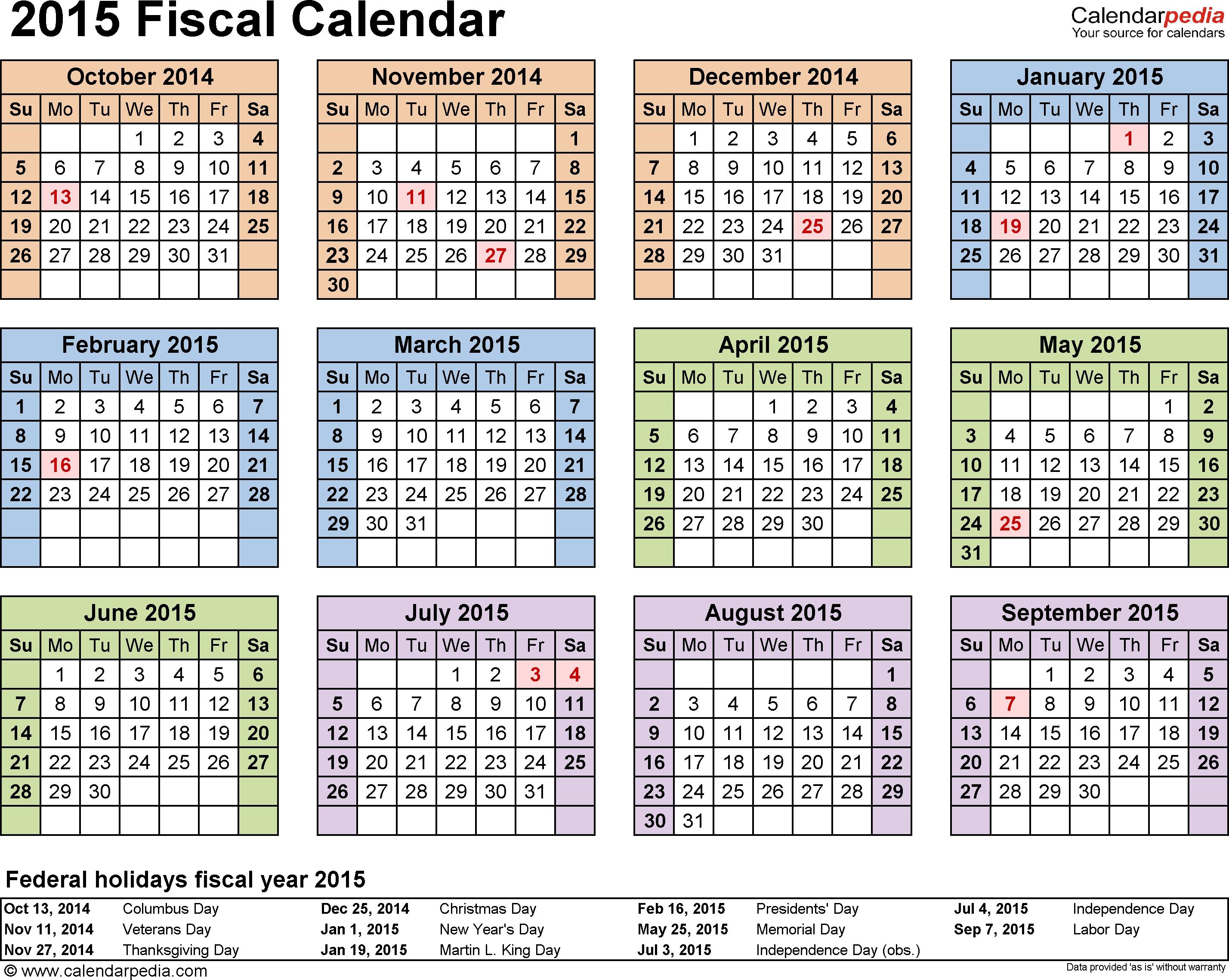 Fiscal Year Calendar 2015 - Yeniscale.co  Fiscal Year Vs Calendar Year
