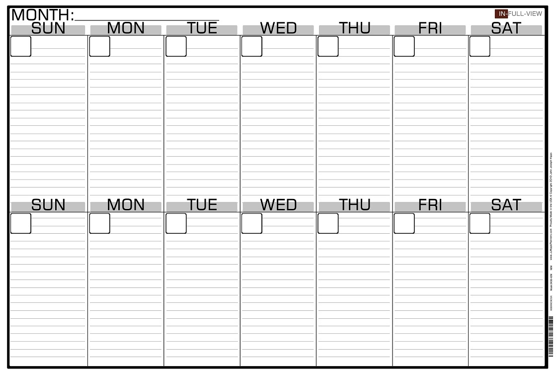Free Printable 2 Week Calendar - Yeniscale.co  2 Week Blank Calendar Printable