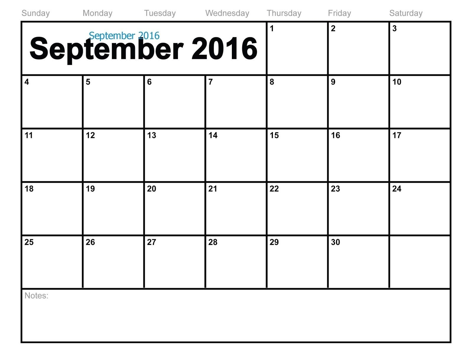 Free Printable Calendar: Free Printable Calendar September  Print Calendar Month Of September