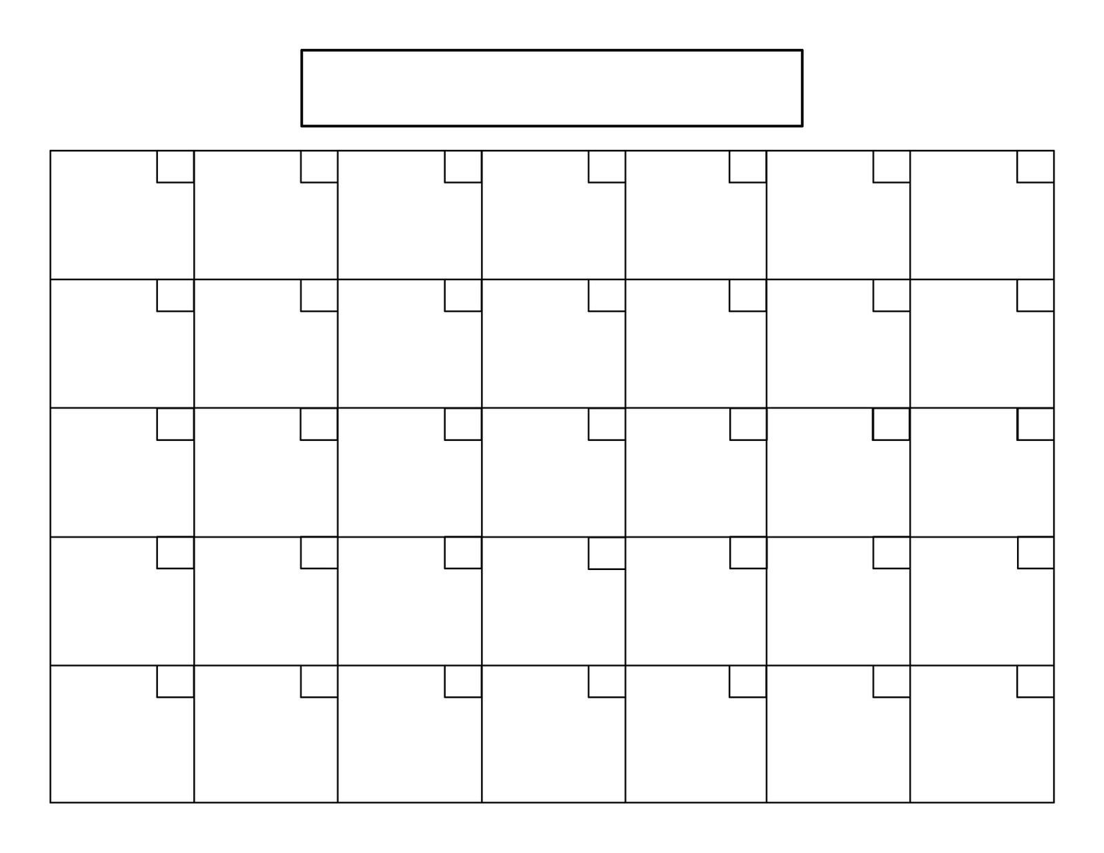 Full Page Blank Calendar Free Calendar 2017 2018 – Printable  Printable Full Size Blank Calendar
