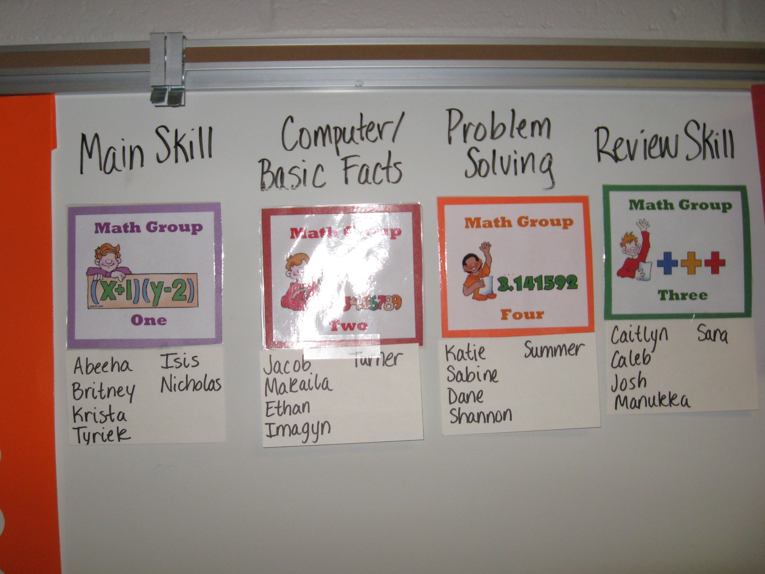 Guided Math Groups  Fourth Grade Everyday Math Calendar Wall