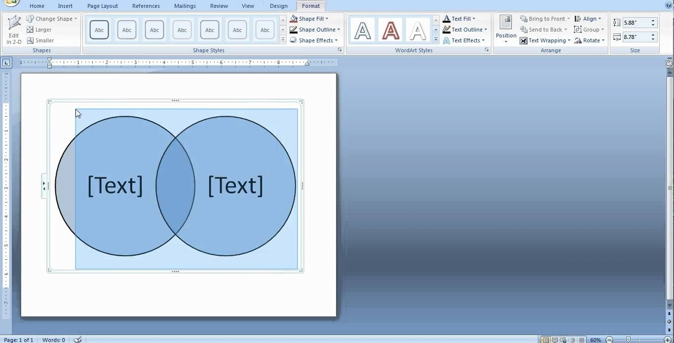 How To Create A Venn Diagram In Word And Powerpoint - Youtube  How To Overlap Pictures Microsoft Word 2013