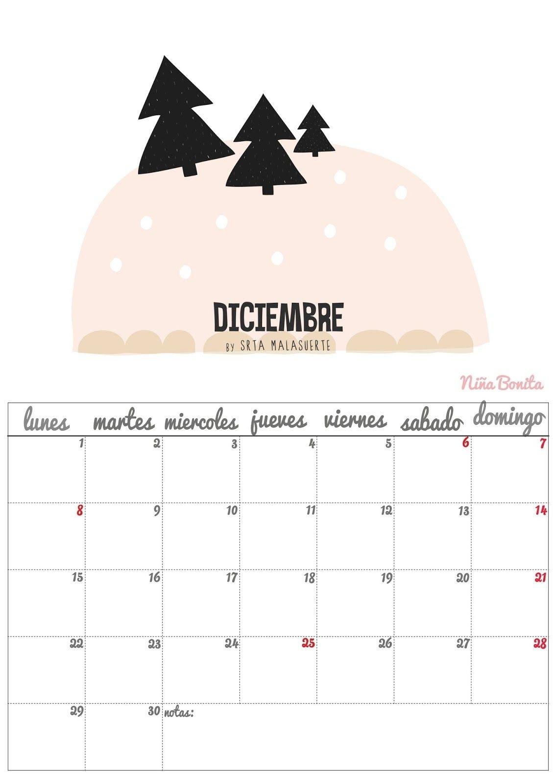 Imprimible: Calendario Diciembre 2014 | Almanaques | Pinterest  Imagen De Tachar Dias En Almanaque