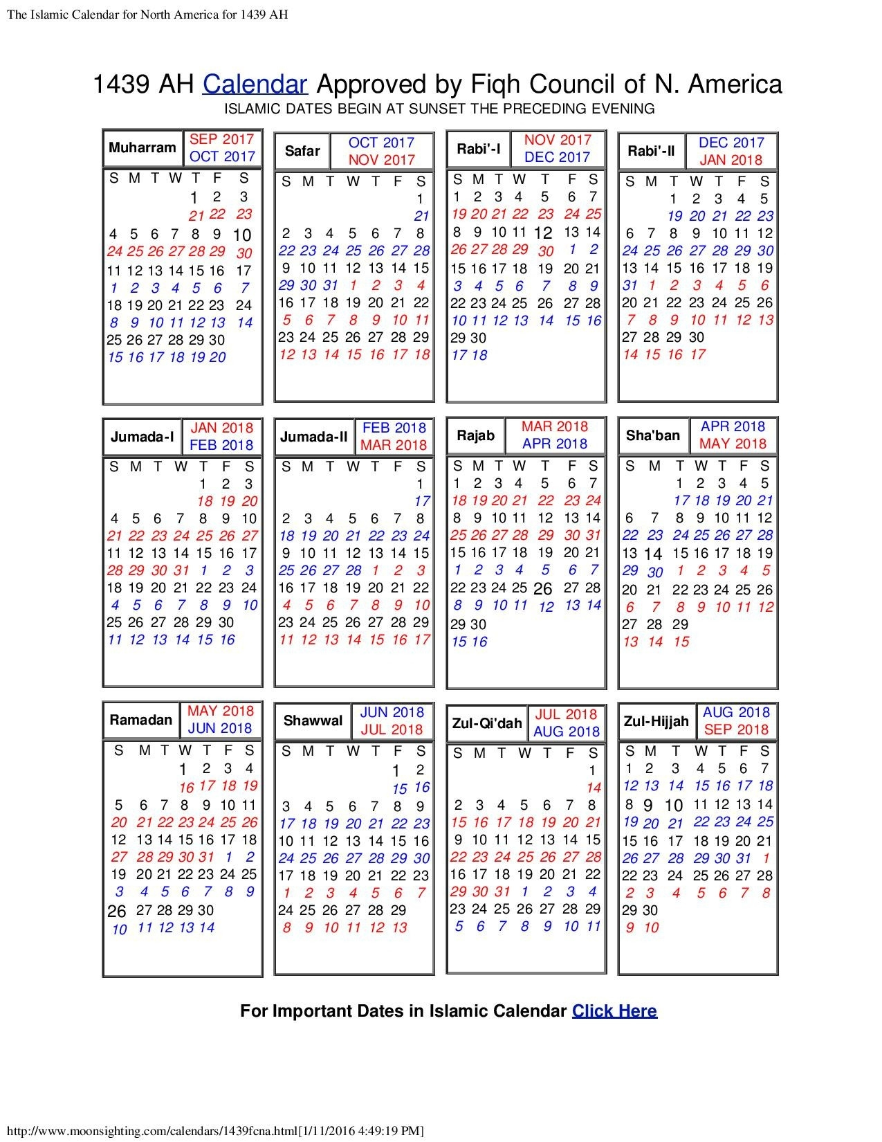 Islamic Calendar 2018 Usa | Nasionalis  Islamic Calendar For The Philippines