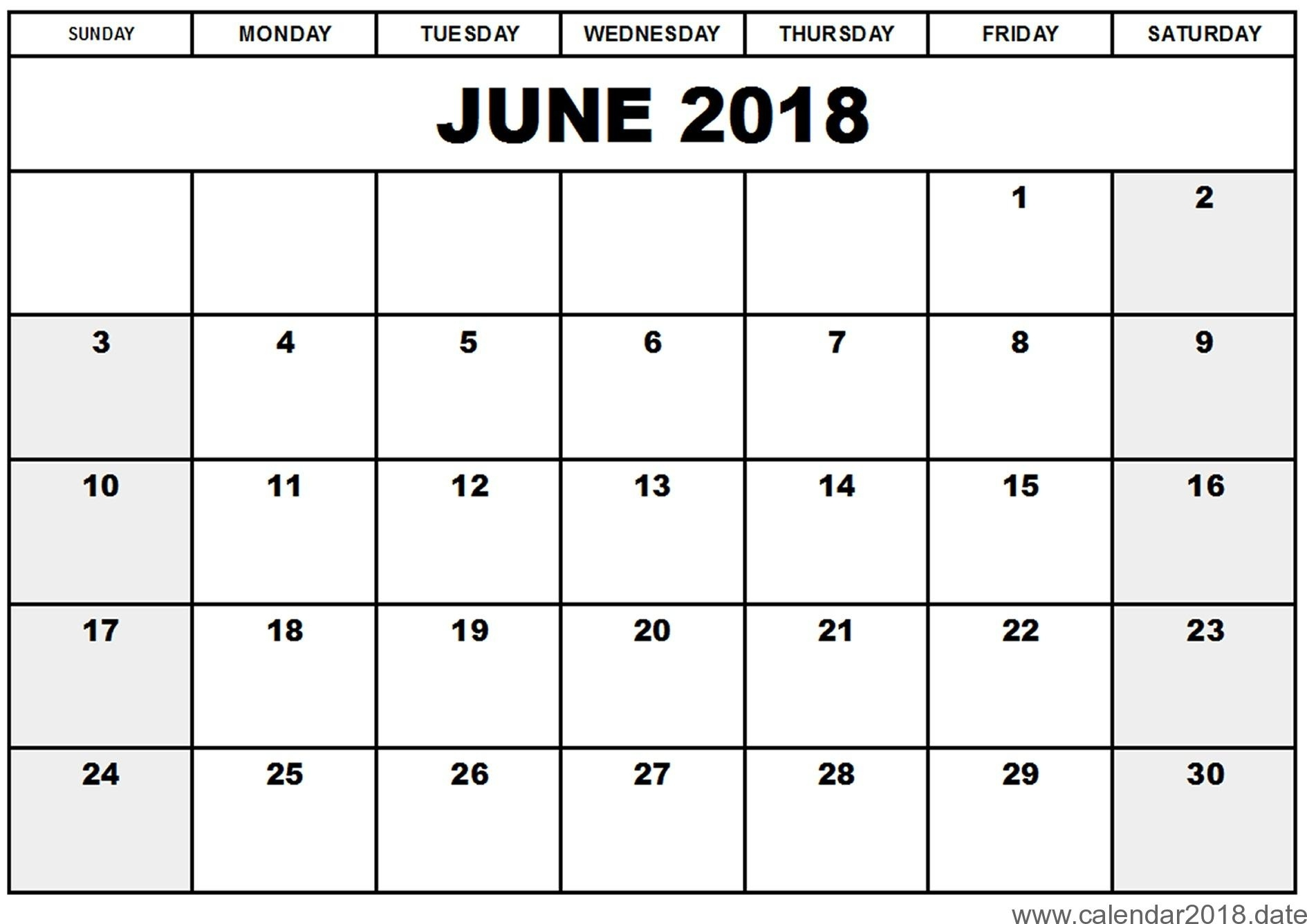 June And July 2018 Printable Calendar - Yeniscale.co  June And July Printable Calendars
