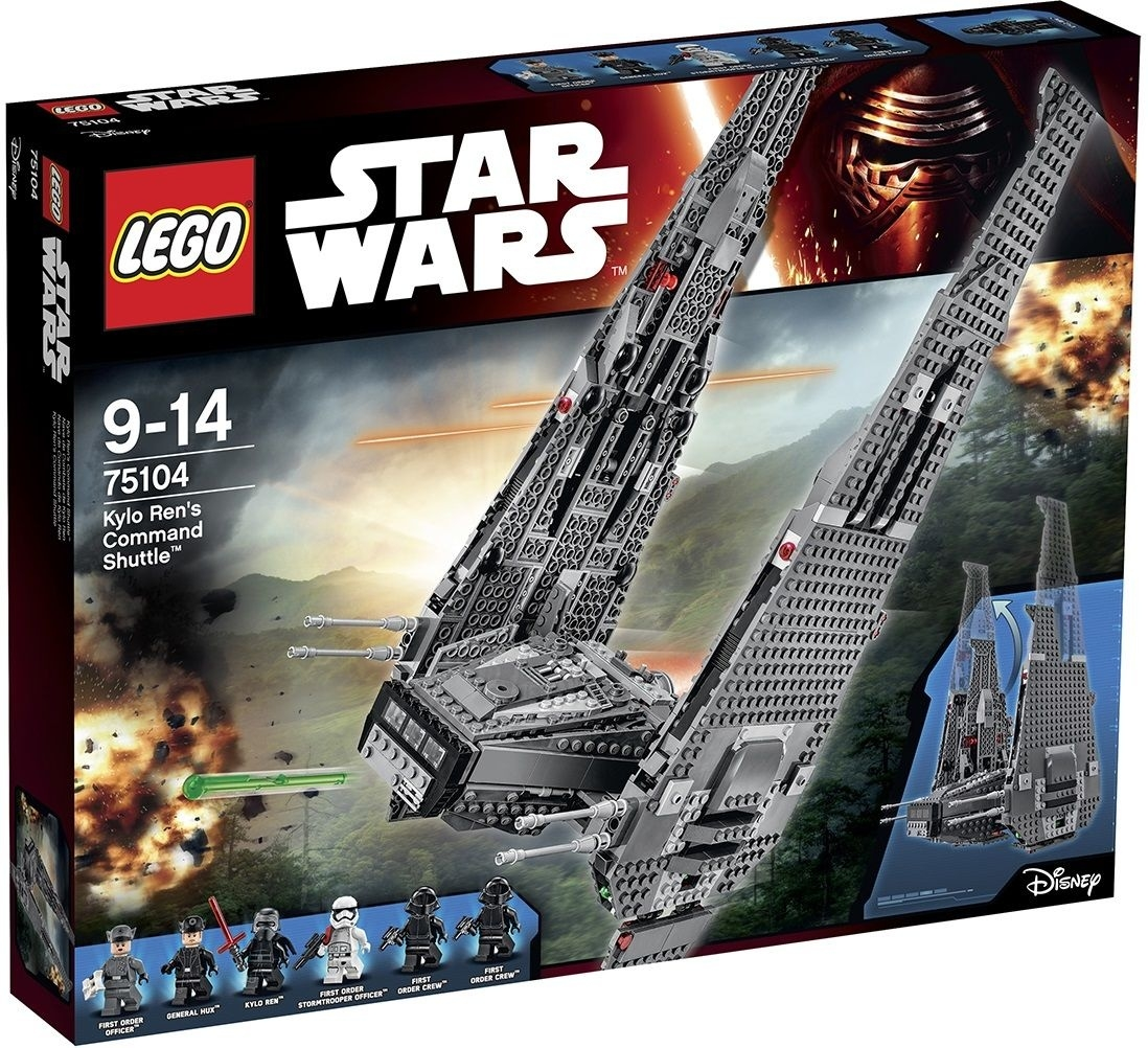 Lego Star Wars Episode Vii Kylo Ren's Command Shuttle! - Bricks And  Star Wars Lego Sets Code