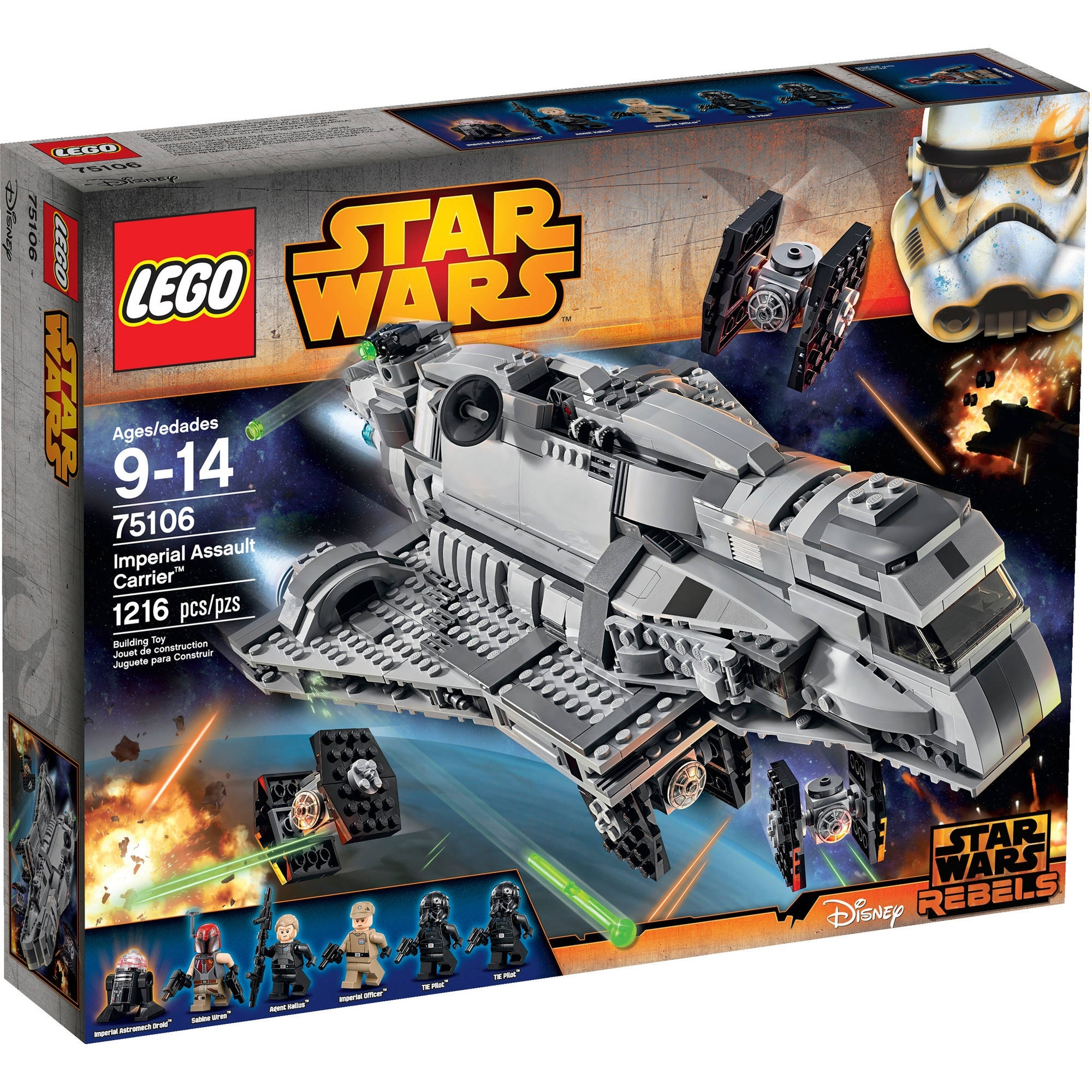 Lego Star Warsimperial Assault Carrier - Walmart  Star Wars Lego Sets Code