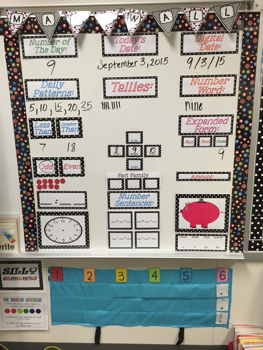 Math Focus Wall Set- Remastered | Math Focus Walls, Math And Walls  Fourth Grade Everyday Math Calendar Wall