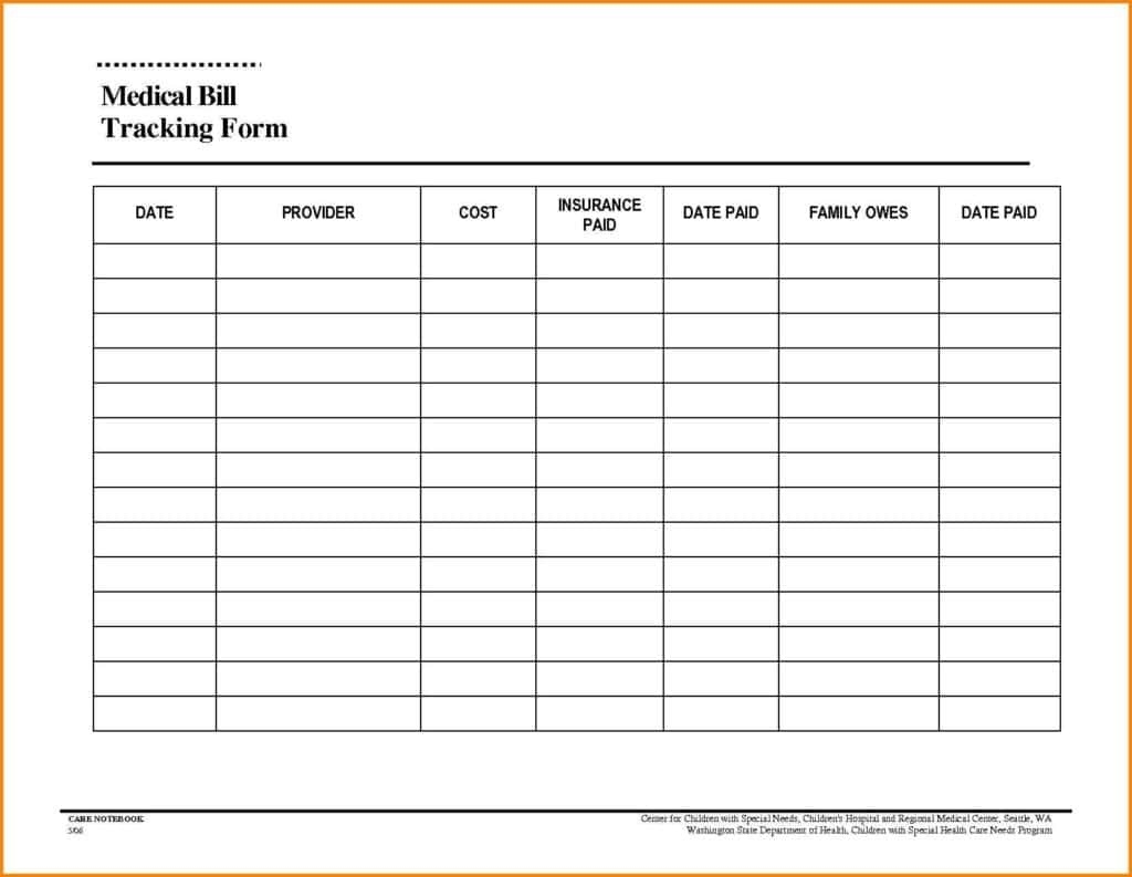 Monthly Expenses Spreadsheet Template Free And Fillable Monthly Bill  Blank Monthly Bill Payment Worksheet