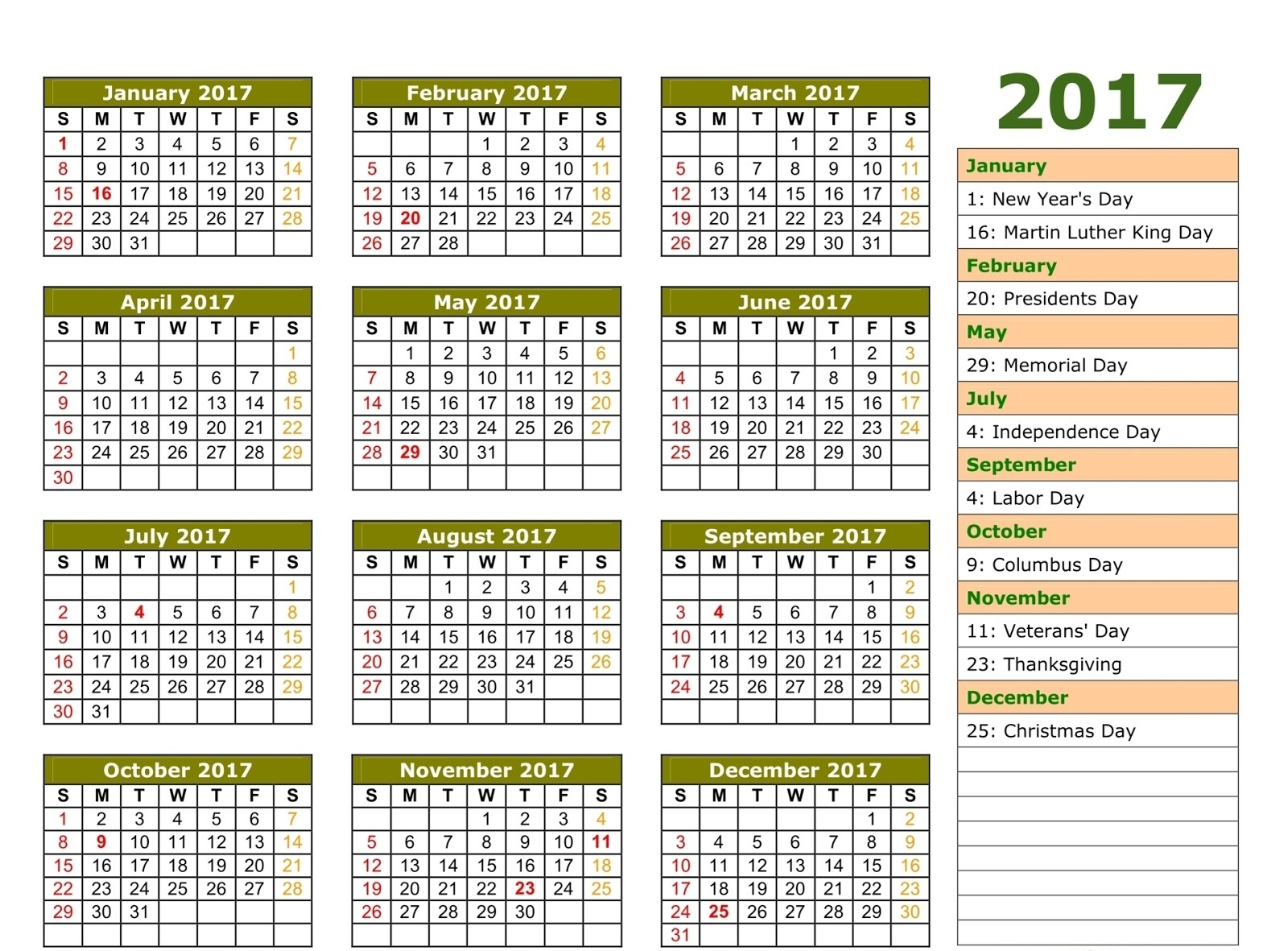 November 2017 Bank Holiday | Printable Calendar Yearly  List Ofhoidays In Sri Lanka