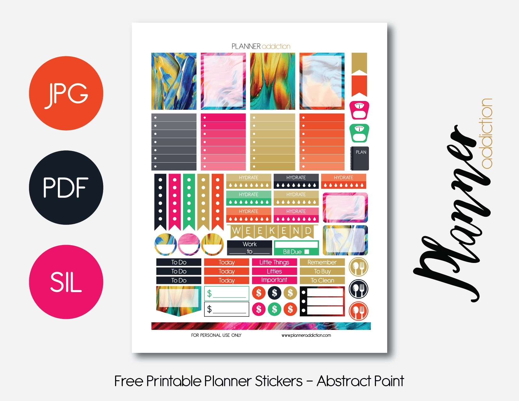 Planner Addiction – Free Diy Printables For Planner  Free Printable Number Labels 1-31