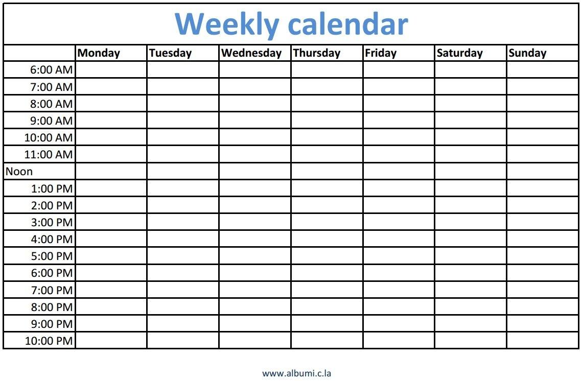 Printable Calendar With Time Slots 2018 | Calendar Printable Free  Month Printable Calendar With Time Slots