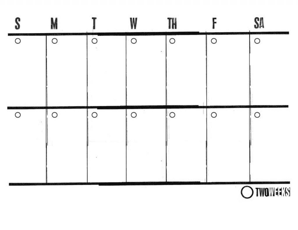 Printable Two Week Calendar - Yeniscale.co  2 Week Blank Calendar Printable
