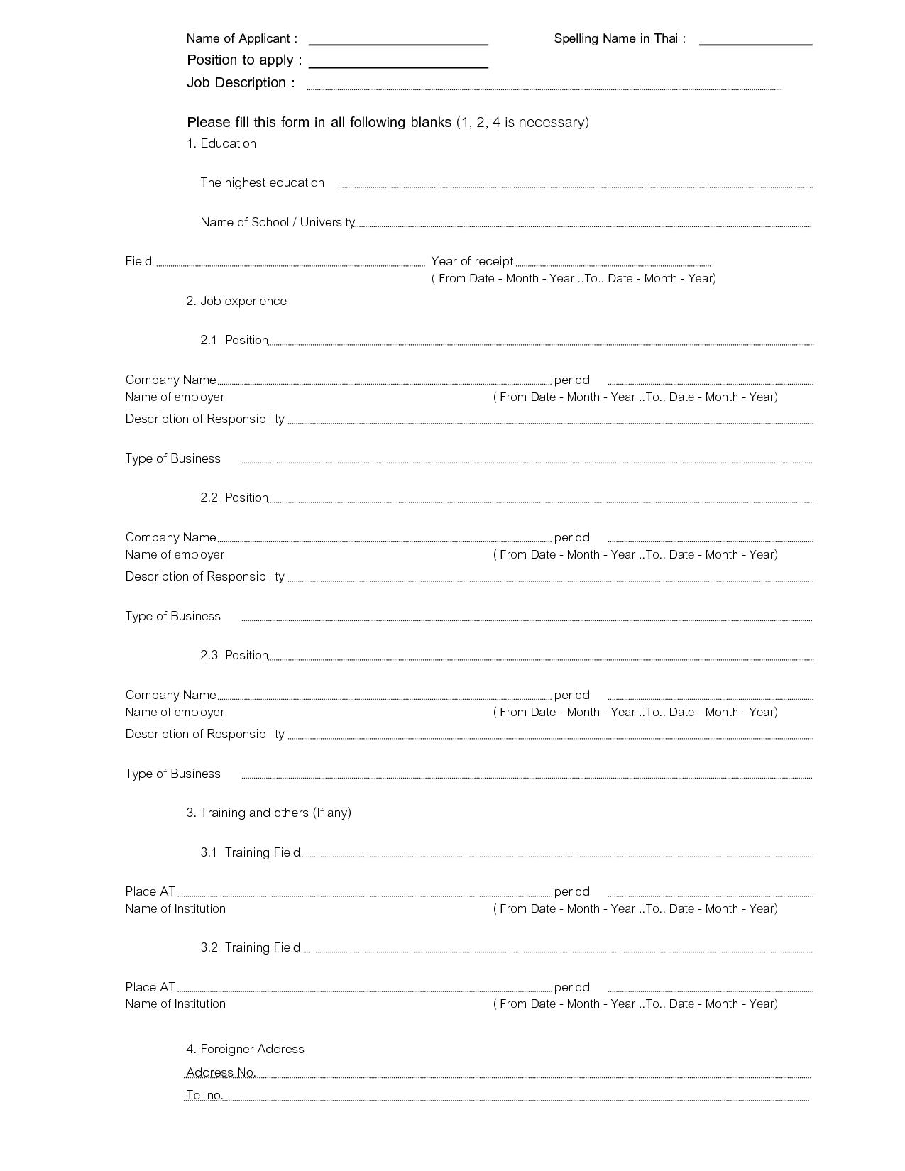 Resume Fill In The Blanks Free Template - Yeniscale.co  Fill In The Blank Template