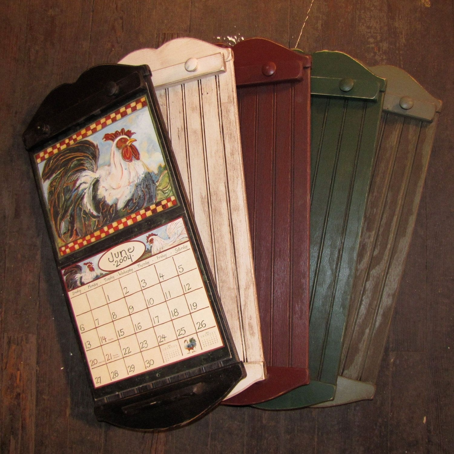 Rustic Style Calendar Holder - Color Choice - Free Shipping. $37.99  Wall Calendar Frames And Holders